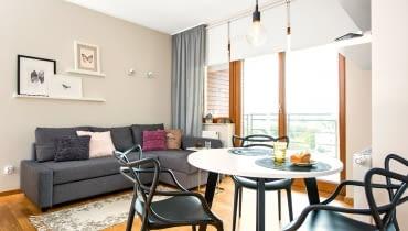 małe mieszkanie, salon, aranżacja salonu