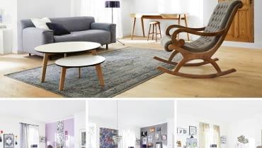 Salon urządzony na trzy sposoby