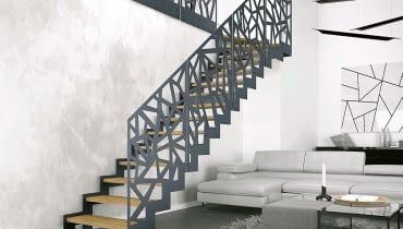 Eleganckie schody gotowe. Metal