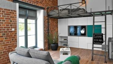 loft, antresola, małe wnętrza