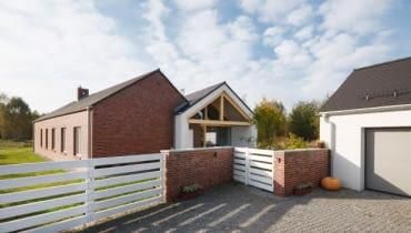 elewacja frontowa, dom jednorodzinny, realizacje domów