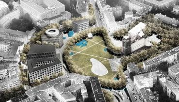Projekt przygotowany przez Zespół autorski: UGO architecture (Hugon Kowalski), Adam Wierciński oraz Kooper (Magda Piotrowska, Zofia Piotrowska)