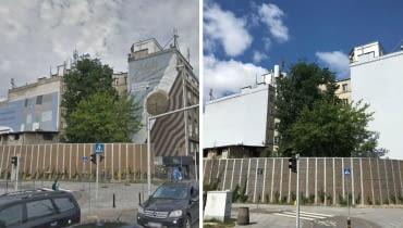 PRL-owskie reklamy z ul. Targowej 15 zostały zamalowane