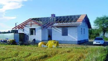 budowa domu, więźba dachowa