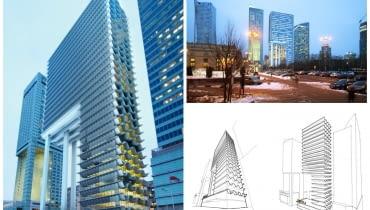 Projekt wieżowca będącego nadbudową Emilii