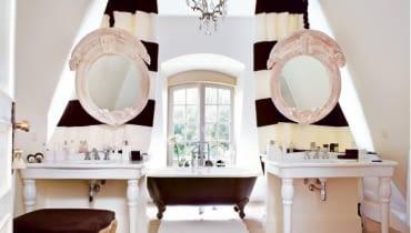 wnętrze, aranżacja, dekoracje, łazienka