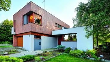 elewacja frontowa, nowoczesny dom
