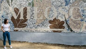 Odsłonięcie mozaiki MIŁOŚĆ w Szczecinie.