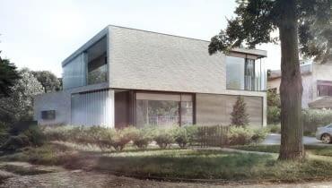 Wizualizacja domu 'H' - nowoczesne projekty domów jednorodzinnych