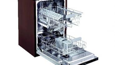 Energooszczędne zmywarki do umycia pełnego załadunku potrzebują około 10 l wody