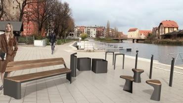 Projekt miejskich mebli dla Gdańska