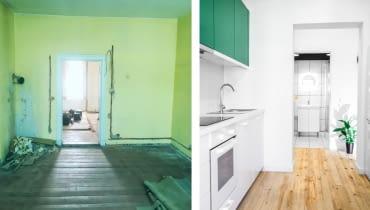 Metamorfoza starego mieszkania dla młodych