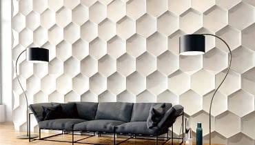 Panele, dla których inspiracją był kształt słojów w pszczelim wosku