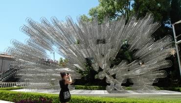 Instalacja Forever składa się z ponad tysiąca rowerów, autor Ai Weiwei, Wenecja