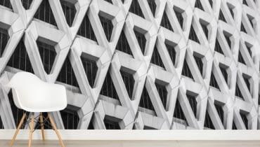 Tapeta inspirowana wzorami i strukturami architektury brutalizmu. Brutalizm