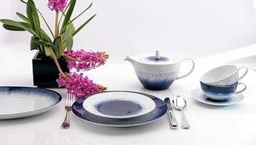 DUKA, blue rain, porcelana, naczynia, elegancka porcelana