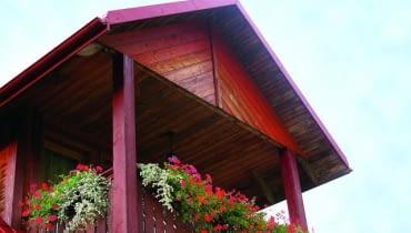 Drewniana podbitka dachowa