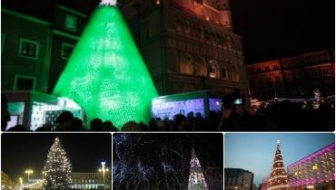 Choinki świąteczne w polskich miastach