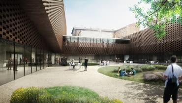 Wydział Radia i Telewizji Uniwersytetu Śląskiego - wizualizacja