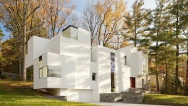 Biała willa pod Waszyngtonem, proj. David Jameson Architect
