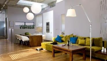 loft,lofty,aranżacja wnętrz,projektowanie wnętrz,salon,oświetlenie salonu