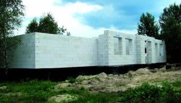budowa domu, ściany z betonu komórkowego, dom z betonu komórkowego, beton komórkowy