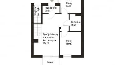 Plan mieszkania - punk wyjścia