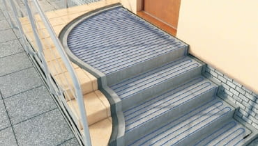 podgrzewane schody zewnętrzne