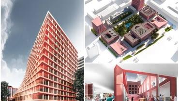 Warszawa. Wizualizacja nowych budynków, które mogą powstać przy głównym kampusie SGH przy al. Niepodległości 162