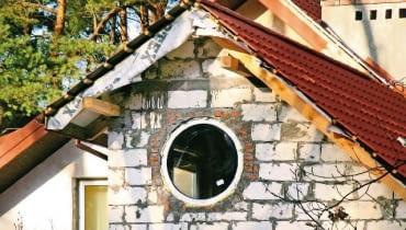 okrągłe okno,nadproża,budowa domu