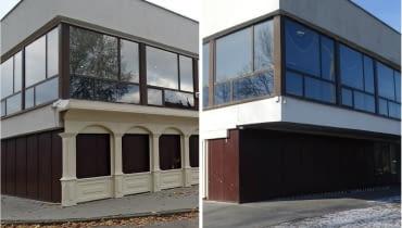 Dawny Pałac Ślubów w Sosnowcu - kilka miesięcy temu i dziś.