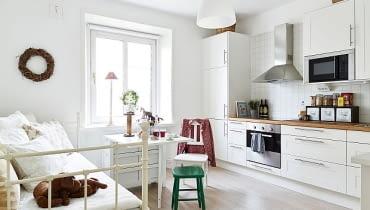 małe mieszkanie, jak urządzić małe mieszkanie, mieszkanie w skandynawskim stylu, skandynawski styl w mieszkaniu, jak urządzić