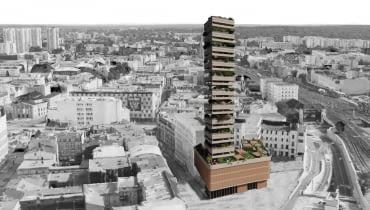 Wieżowiec w Katowicach - wyróżniona praca w konkursie 'La Ville Vertical' Vertical City Design Competition'.