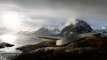 Hotel Opera,Lofoty w Norwegii, projekt: Snohetta - w trakcie realizacji