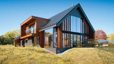 Duży, nowoczesny dom na wsi