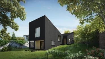 Dom w konstrukcji drewnianej szkieletowej