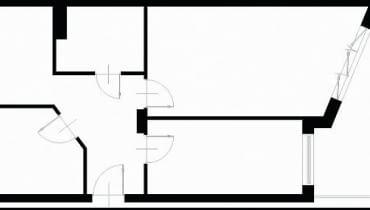 Projektowanie wnętrz. 61,3 m kw. trzypokojowe dla 3 osób