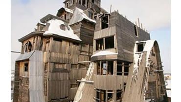 Najwyższy drewniany dom.