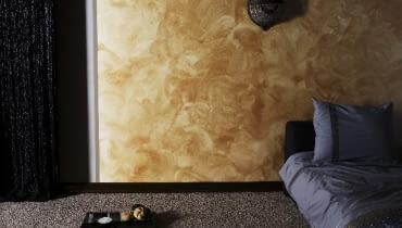 Dekoral Fashion Włoskie Impresje - akrylowa farba dekoracyjna, tworzy na pomalowanych ścianach złotą, srebrną lub antyczną poświatę oraz świetlne refleksy