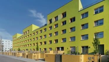 Blok przy Oleanderweg, Halle, proj. Stefan Forster