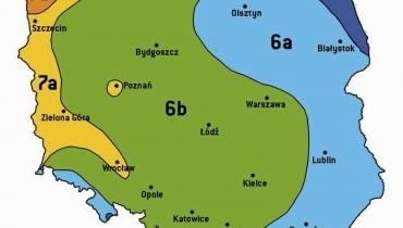 STREFY MROZOODPORNOŚCI NA OBSZARZE POLSKI. Najostrzejsze zimy występują w Polsce północno-wschodniej i wschodniej. Tam sadzimy rośliny najodporniejsze