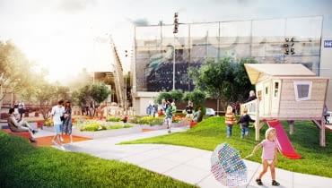 Wizualizacja tegorocznego ogrodu pokazowego. Projektant: Bartłomiej Gasparski, Palmett Markowe Ogrody S.C.