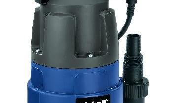 BG- DP 7835 EINHELL Pompa zanurzeniowa do brudnej wody, do opróżniania stawów ogrodowych, piwnic, studni chłonnych lub wykopów pod budowę. Wyposażona jest w wyłącznik pływakowy do automatycznego włączania/wyłączania przy zmieniającym się poziomie wody. Moc: 780 W. Max wydajność pompowania: 15.700 l/godz. Max wysokość pompowania: 8 m. Zanurzenie: 8 m. Wysokość zasysania: ok. 40 mm. Max średnica zanieczyszczeń: 35 mm. Cena: 230,58 zł