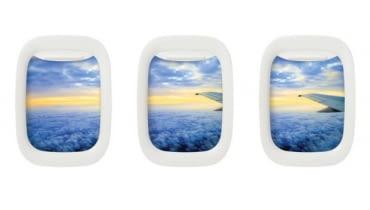 ramka na zdjęcia, okienko samolotu, okno w samolocie