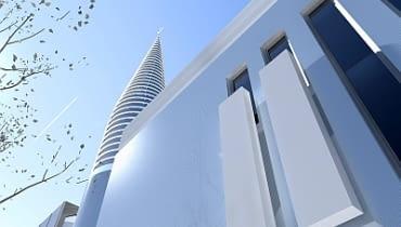 Ośrodek Kultury Muzułmańskiej zaprojektowała pracownia KAPS Architekci.