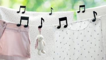 Grające klamry do prania