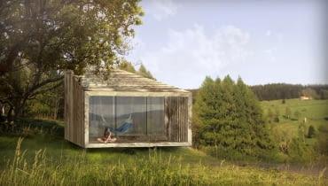 Ekologiczny dom ze słomy - wizualizacja