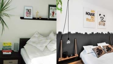 Metamorfoza sypialni - wnętrze przed i po