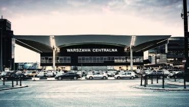 Dworzec Centralny w Warszawie.