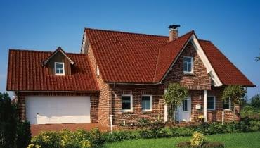 Dom z elewacją z cegły klinkierowej